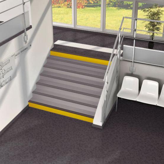 sol pvc acoustique en l s pour escalier sarlon marche. Black Bedroom Furniture Sets. Home Design Ideas