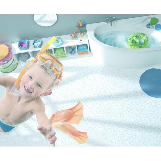 Sol pvc aspect parquet ou motifs pour salle de bains tapisoft tarkett france - Sol vinyl salle de bain ...