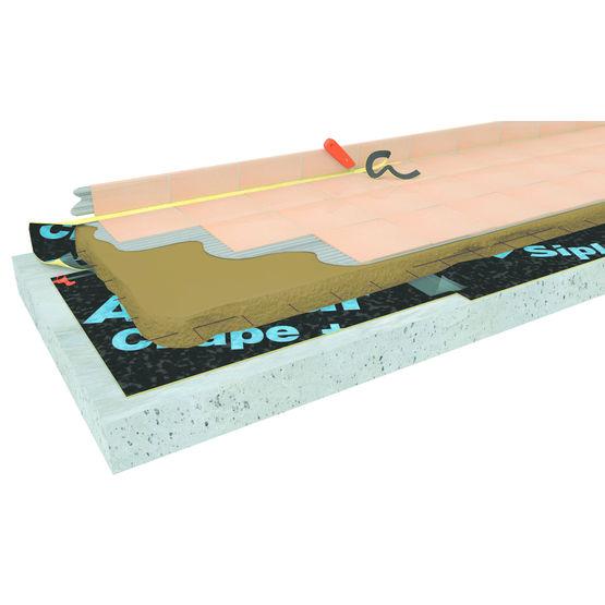 Sous couche acoustique mince bande adh sive icopal siplast for Sous couche acoustique sous carrelage