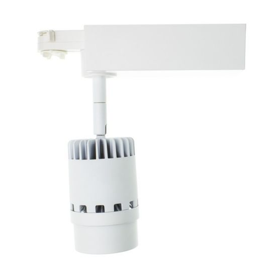 Spot LED pour Rail 3 circuits 20W Blanc | Héron - LED LIGHTING FRANCE