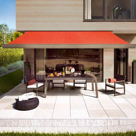store banne coffre pour terrasses et balcons avec spots led int gr s. Black Bedroom Furniture Sets. Home Design Ideas