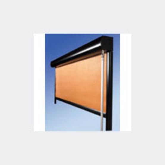 Store droit en toile m1 pvc ou polyester hiscreen for Store droit exterieur