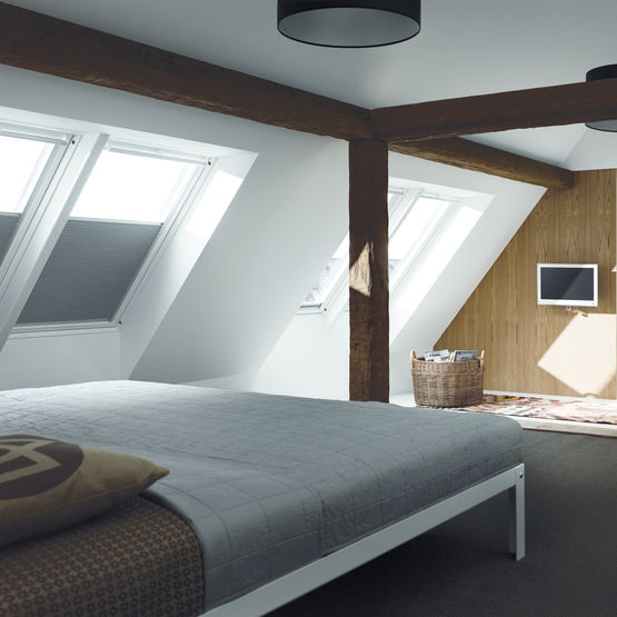 store occultant et isolant en toile polyester velux. Black Bedroom Furniture Sets. Home Design Ideas