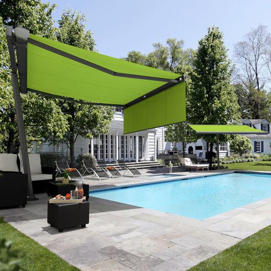 store parasol fixe ou rotatif jusqu 39 335 degr s pour jardins et terrasses. Black Bedroom Furniture Sets. Home Design Ideas