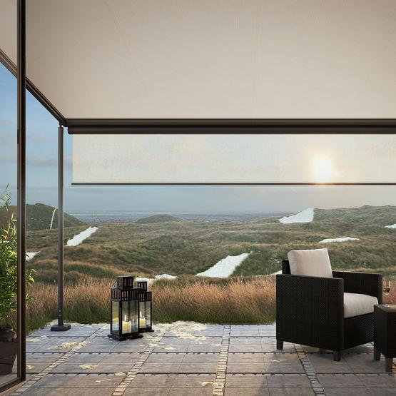 store pergola sur pieds avec lambrequin pour grandes. Black Bedroom Furniture Sets. Home Design Ideas