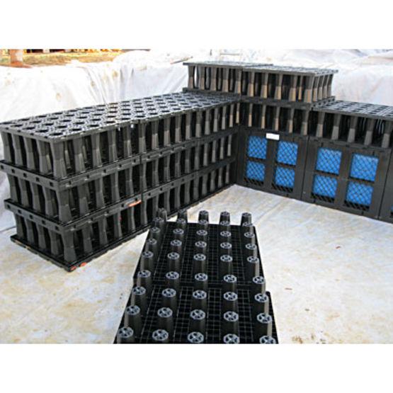 Structure alv olaire pour bassin de r tention rehau for Bache pour bassin retention