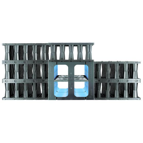 Structure alv olaire pour bassin de r tention rausikko box c rehau - Terrassement bassin de retention ...