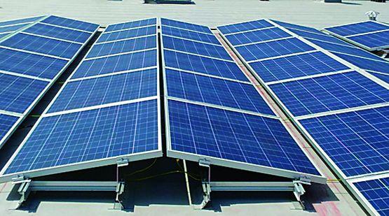 Structure pour pose inclin e de panneaux pv en toiture for Pose de panneaux solaires sur toiture
