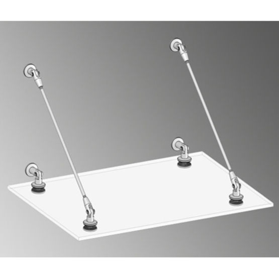 Structure quatre points pour marquise en verre | Marquise Light