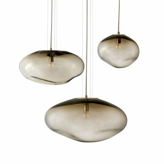 planétoides :suspension design en verre soufflé fait à la main