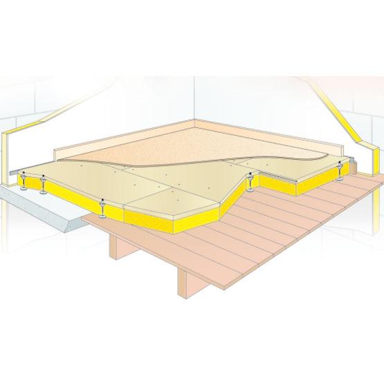 syst me complet de plancher sur lev isolant pour r novation distansol isover. Black Bedroom Furniture Sets. Home Design Ideas