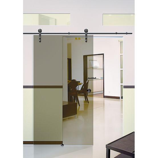 Syst me coulissant apparent pour porte en bois ou en verre bario i ii iii alliage concept - Systeme coulissant porte interieure ...