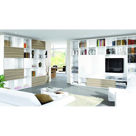 Syst me coulissant pour portes de meubles de rangement slideline m hettich - Systeme coulissant porte interieure ...