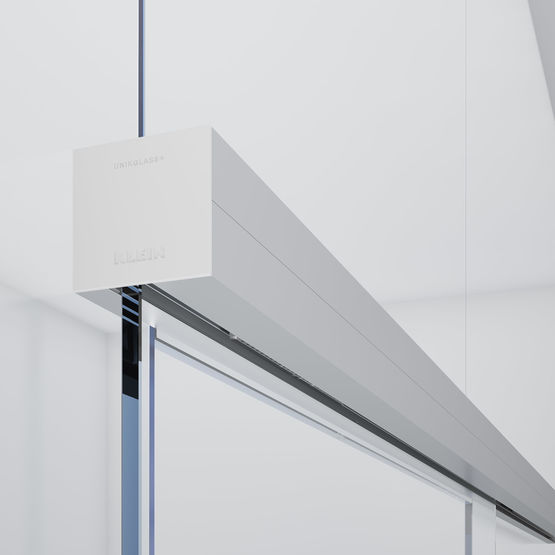 Unikglass air syst me coulissant sur imposte vitr e sans cadre b tiproduits - Systeme coulissant porte interieure ...