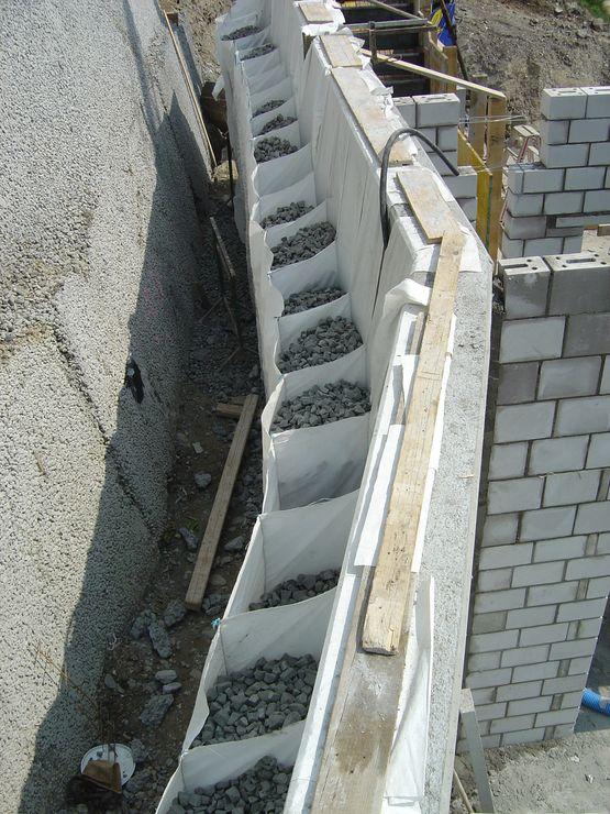Syst me d 39 isolation pour mur enterr wall bag misapor sa - Produit etancheite mur exterieur ...