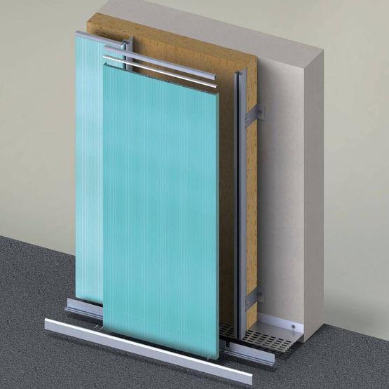 syst me de bardage rapport en polycarbonate pour. Black Bedroom Furniture Sets. Home Design Ideas
