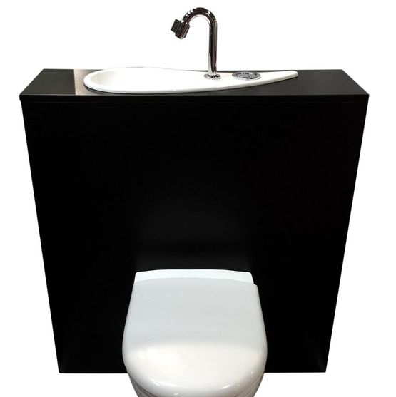 wicc free flush une cuvette wc suspendue geberit avec lave mains design int gr. Black Bedroom Furniture Sets. Home Design Ideas