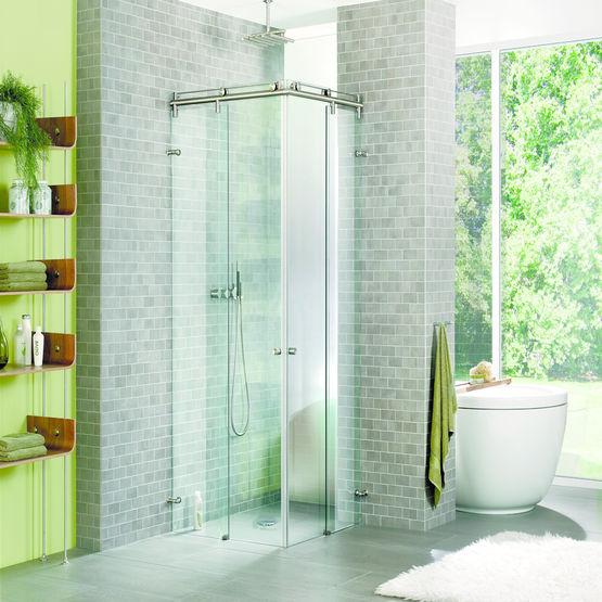 Syst me de fixation de portes vitr es pour douches - Fixation porte de douche ...