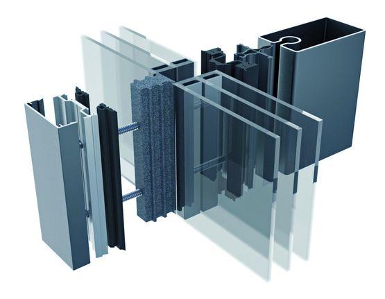 Système de profilé acier pour mur rideau sur bâtiment passif ...