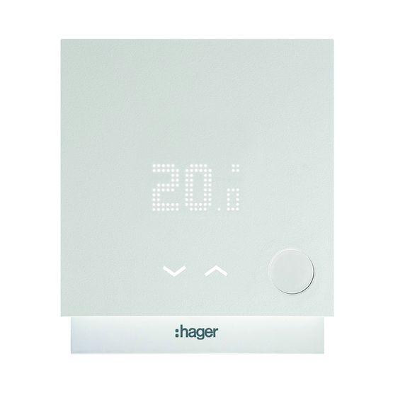 thermostat connect pour pilotage du chauffage distance smart thermostat hager. Black Bedroom Furniture Sets. Home Design Ideas