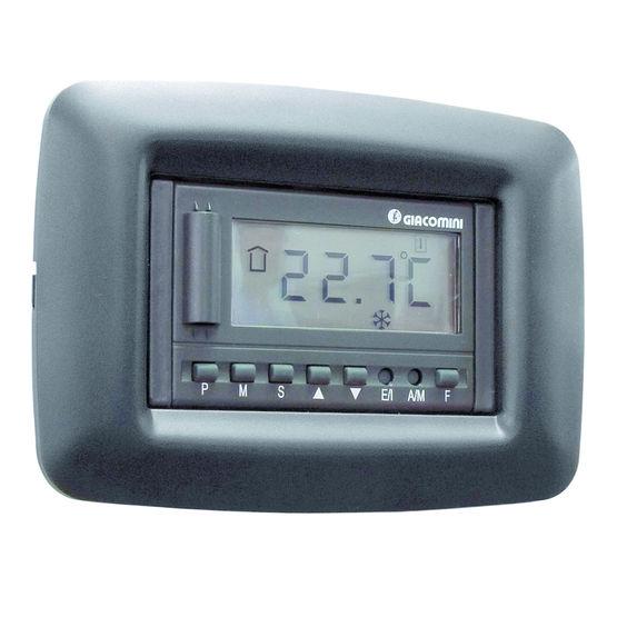 Thermostat filaire pour plancher chauffant rafra chissant k480i giacomini - Thermostat plancher chauffant electrique ...
