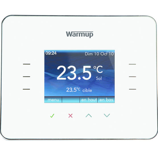 thermostat pour plancher chauffant 3ie warmup. Black Bedroom Furniture Sets. Home Design Ideas