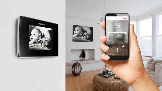 thermostat pour plancher chauffant et chauffage central. Black Bedroom Furniture Sets. Home Design Ideas