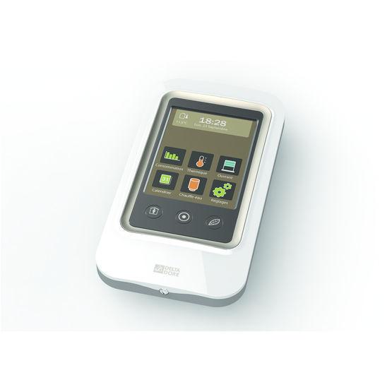 thermostat tactile pour chauffage lectrique avec gestion. Black Bedroom Furniture Sets. Home Design Ideas