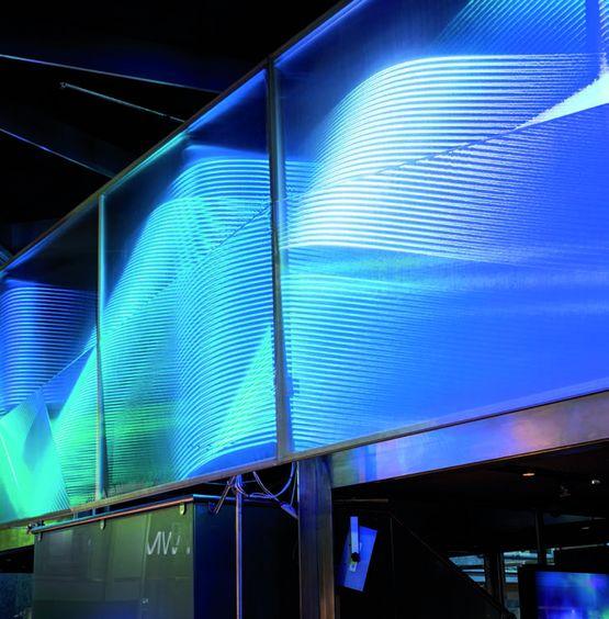 tissu lumineux en toile avec leds int gr es pour murs ou. Black Bedroom Furniture Sets. Home Design Ideas