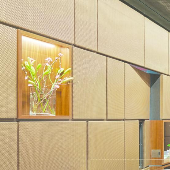tissus m talliques pour l 39 agencement de murs rev tement de murs avec les toiles pour l. Black Bedroom Furniture Sets. Home Design Ideas