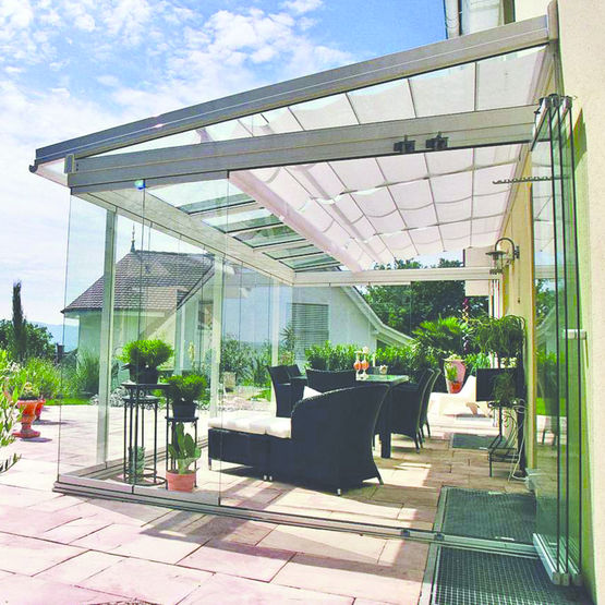 toiture de terrasse aluminium sans isolation thermique sdl atrium plus solarlux aluminium. Black Bedroom Furniture Sets. Home Design Ideas