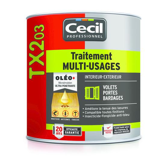 produit traitement bois exterieur Traitement multi-usages insecticide et fongicide pour bois | TX 203