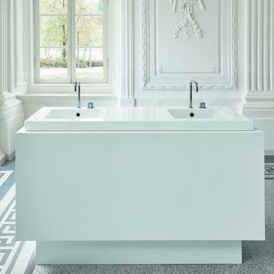 Vasque de salle de bain larges rebords en acier titane for Bette salle de bain