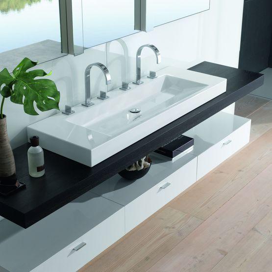 Vasque de salle de bain au design épuré en acier titane vitrifié | BetteAqua