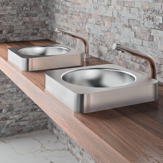 Vasque semi-encastrée QUADRA   Réf. 120650
