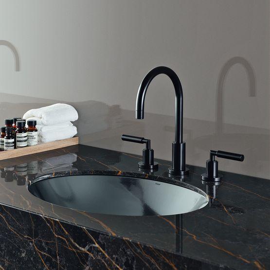 Vasques et plans vasques design pour salle de bains aspect m tal for Plan vasque salle de bain