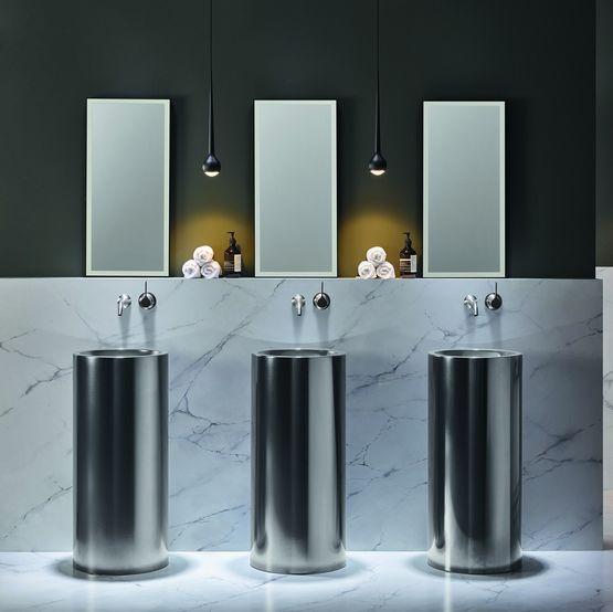 Vasques et plans vasques design pour salles de bains aspect métal | ALAPE  DARK IRON
