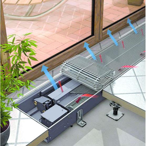 ventilo convecteur en caniveau pour chauffage et refroidissement katherm hk kampmann. Black Bedroom Furniture Sets. Home Design Ideas