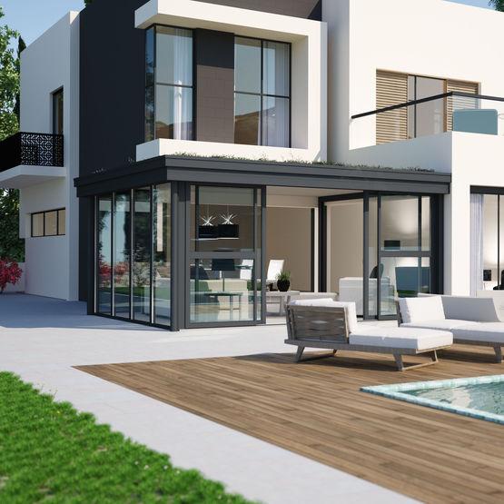 panneau sandwich toiture veranda beautiful panneau. Black Bedroom Furniture Sets. Home Design Ideas