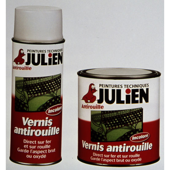 vernis antirouille incolore en pot ou a rosol vernifer cep julien. Black Bedroom Furniture Sets. Home Design Ideas