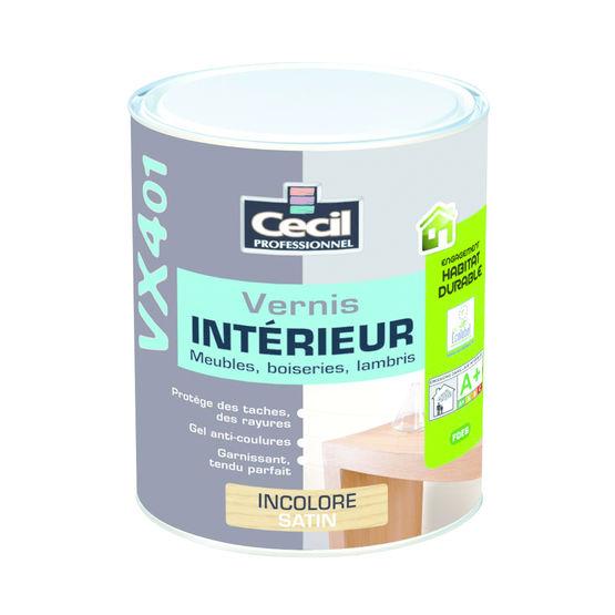 Vernis sans odeur pour meubles et lambris int rieurs cecil professionnel - Vernis paillete pour mur ...