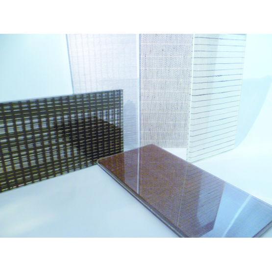 verre avec insertion de tissu fusion de mati res miroiterie de chartreuse. Black Bedroom Furniture Sets. Home Design Ideas