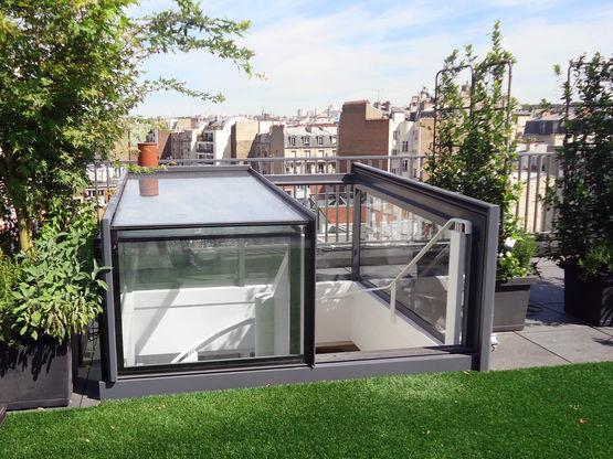 Verriere Coulissante Motorisee Gv Acces Terrasse Glazing Vision Paris