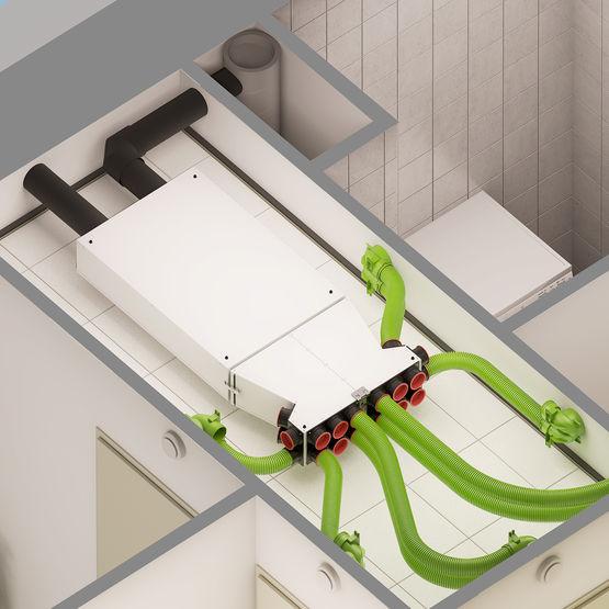 vmc double flux extraplate jusqu 300 m3 h de d bit renovent sky 300 brink climate systems. Black Bedroom Furniture Sets. Home Design Ideas