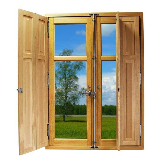 volets intérieurs bois : volet intérieur pliable en bois massif pour