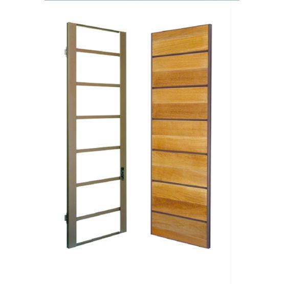 Volet ou persienne en bois et aluminium uni wood am - Volet porte fenetre persienne bois ...