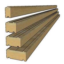 Blocs et panneaux autoportants en bois produits du btp for Bloc construction bois