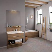Meuble vasque de salle de bain 1 tiroir et niche | Infiniti 1 tiroir