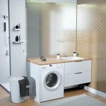 Meuble vasque de salle de bain avec emplacement lave-linge | Concept machine à laver
