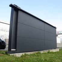 portail aluminium battant ou coulissant d 39 aspect claire voie. Black Bedroom Furniture Sets. Home Design Ideas